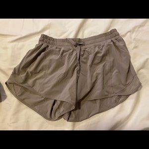 Light gray lululemon shorts